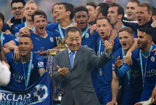 Clubeigenaar Vichai Srivaddhanaprabha wordt door spelers op handen gedragen zeker sinds hij in 2016 met Leicester City de Premier League won.