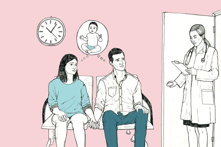 """Sten (32) en Eline (30) willen doodgraag een kind. Maar de natuur werkt niet mee. Na drie jaar vruchteloos proberen, volgen ze nu al zes maanden een ivf-traject. Een medische mallemolen, waarbij het koppel uit de bocht dreigt te vliegen. """"Onze relatie draait alléén nog rond onze kinderwens."""" Dit is hun hulpkreet."""