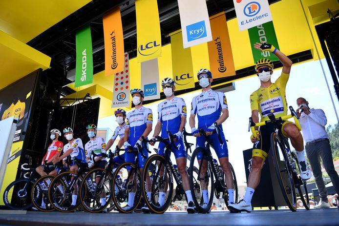 Onder meer Deceuninck-Quick Step, hier aan de start van de vierde Touretappe, komt in Gooik aan de start.