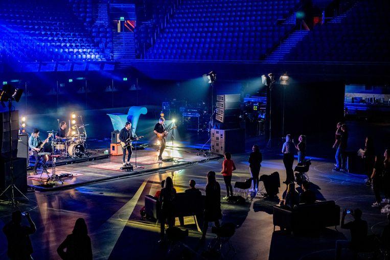 De band Kensington treed op tijdens het 30 Fans Only Concerts van Veronica in de Ziggo Dome. Beeld ANP