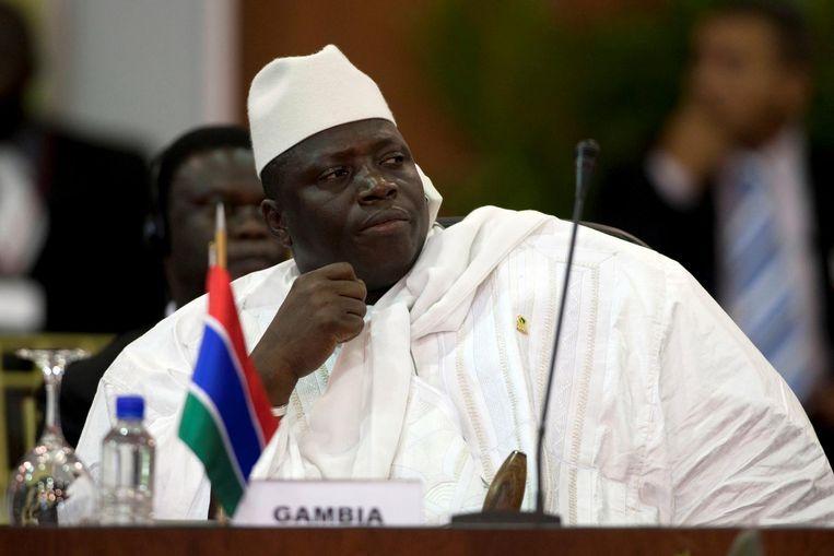 President Yahya Jammeh. Beeld reuters