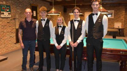 Biljartclub De Coeck viert 4 Belgische kampioenen