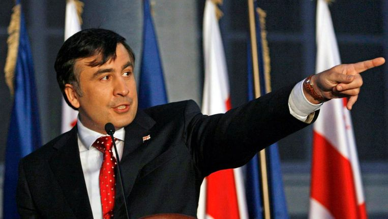 De voormalige Georgische president Michail Saakasjvili. Beeld ap