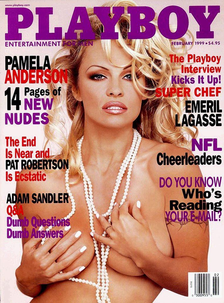Pamela Anderson op de cover van 'Playboy' in februari 1999.
