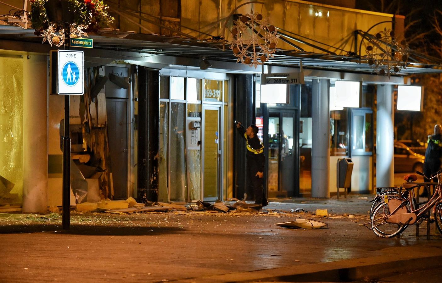 Vermoedelijk zijn er explosieven gebruikt tijdens de plofkraak bij de ABN Amro-vestiging.