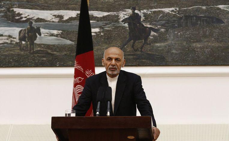 Afghaanse president Ashraf Ghani Beeld epa
