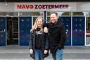 Portret van leerling Fieke en haar vader Jacco voor de Mavo Zoetermeer die na dit jaar haar deuren moet sluiten.