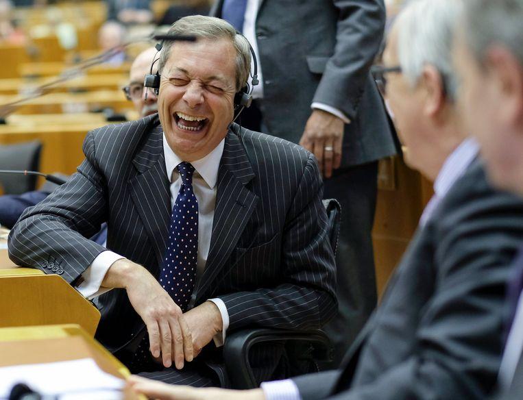Nigel Farage in het Europees parlement.