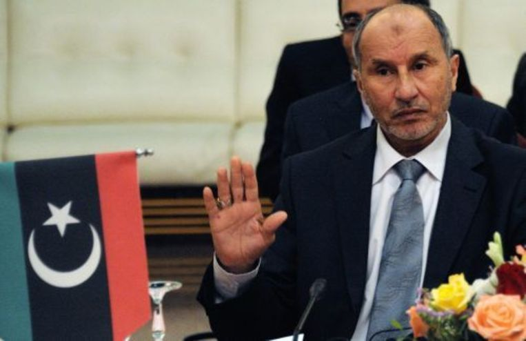 Rebellenleider Mustafa Abdul Jalil. EPA Beeld