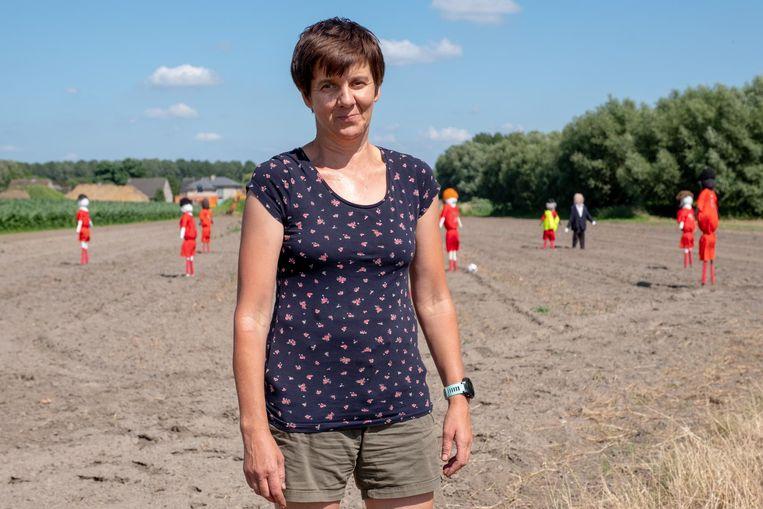 Groentekweekster Els Verhasselt bij 'haar' nationale elftal.