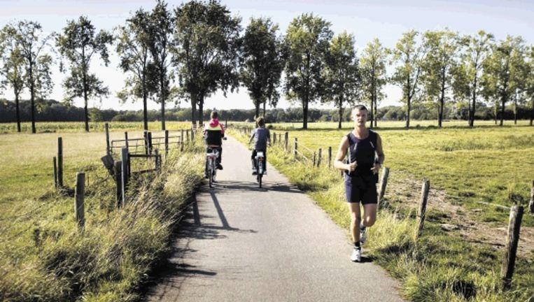 Het gebied rond landgoed Haarzuilens, waar wellicht een snelweg wordt aangelegd, is de afgelopen tien jaar ontwikkeld ten behoeve van groen en recreatie. (FOTO WERRY CRONE, TROUW) Beeld
