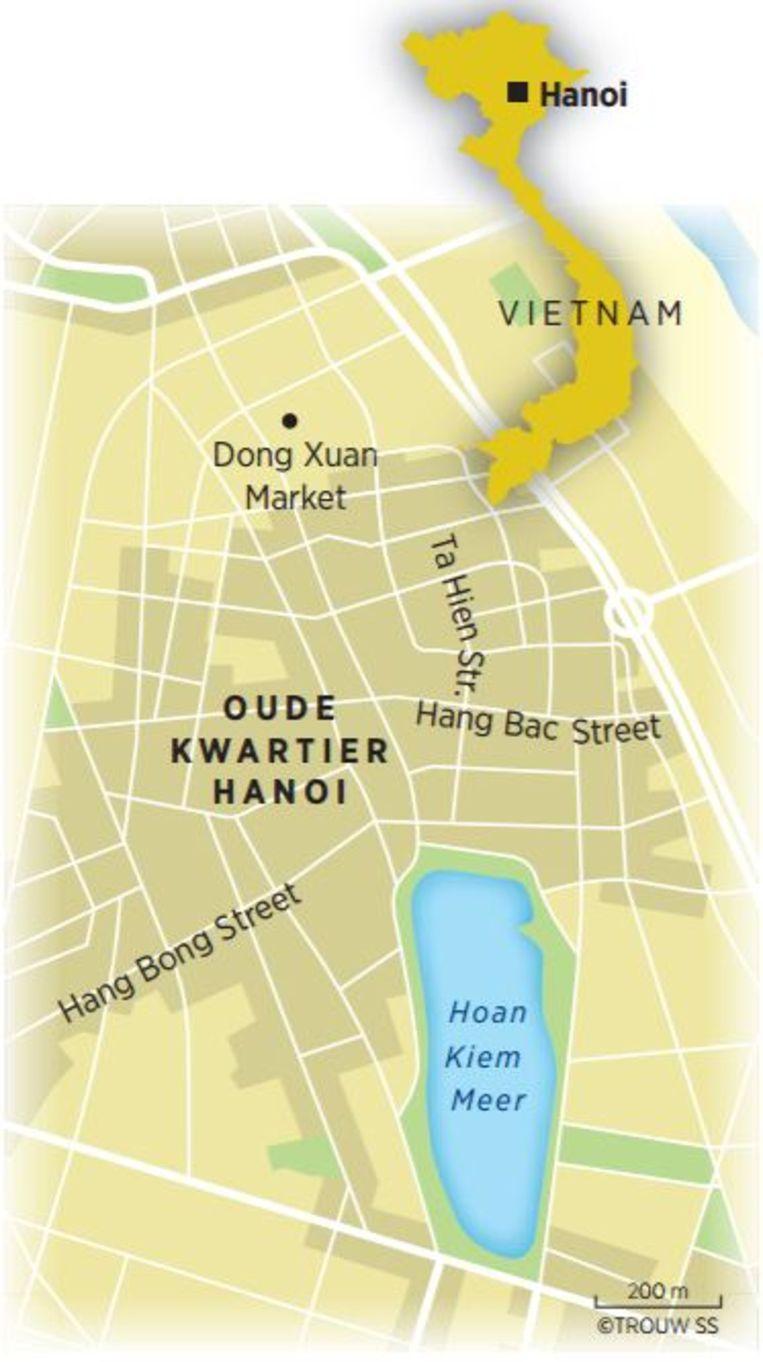 Het Oude Kwartier in Hanoi Beeld Trouw SS