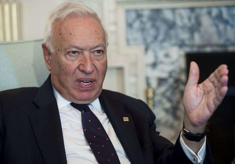 De Spaanse minister van Buitenlandse Zaken, Jose Manuel Garcia-Margallo. Beeld AFP