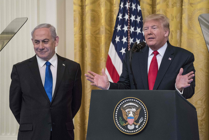 Donald Trump en Benjamin Netanyahu