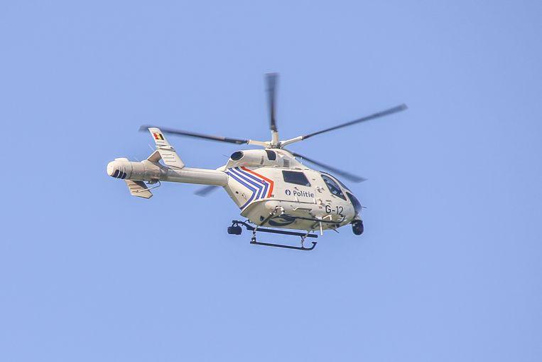 Er werd een helikopter uitgezonden om de vrouw te zoeken.
