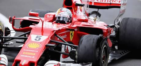 Vettel noemt zevende plek geen ramp: 'We zijn verrast door bandenprobleem'