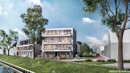 Aangepaste bouwaanvraag voor flats nabij kanaal