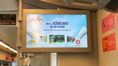 NMBS schrapt reclame voor Nationale Loterij na boze reactie reiziger
