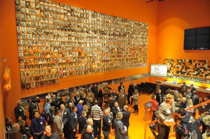 De Hall of Fame in het Nationaal Voetbalmuseum. foto Rolf de Feijter