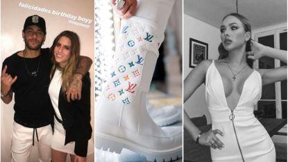 Naast resem modellen mocht er ook journalist binnen op feestje Neymar en hij lachte vooral met laarzen van Depay van 1.650 euro