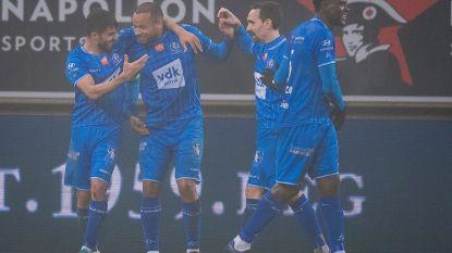 Bij momenten swingend AA Gent buigt scheve situatie om tegen RC Genk en blijft ongeslagen op eigen veld