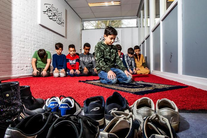 Leerlingen van de islamitische basisschool De Zonnebloem in Deventer.