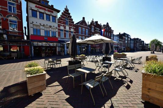 Uitgaan op de Markt in Roosendaal.