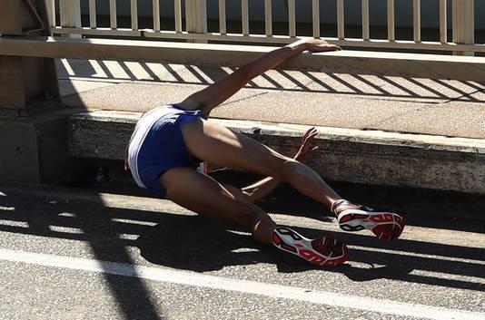 Callum Hawkins stort in bij de Commonwealth Games in Australië.