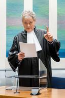 Advocaat Menno Buntsma in zijn toga in de rechtszaal van de rechtbank Breda.