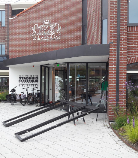Geramde pui van stadhuis in Harderwijk na 3 maanden vervangen