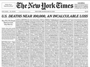 """""""Ils n'étaient pas seulement des noms sur une liste"""": la Une choc du New York Times"""