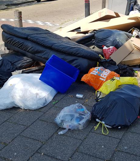Meierijstad gaat afvalcontainers 'aankleden' om te kijken of zakken ernaast zo minder worden