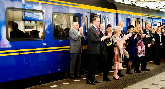 De aankomst van de koningin op station Zwolle. Foto: ANP