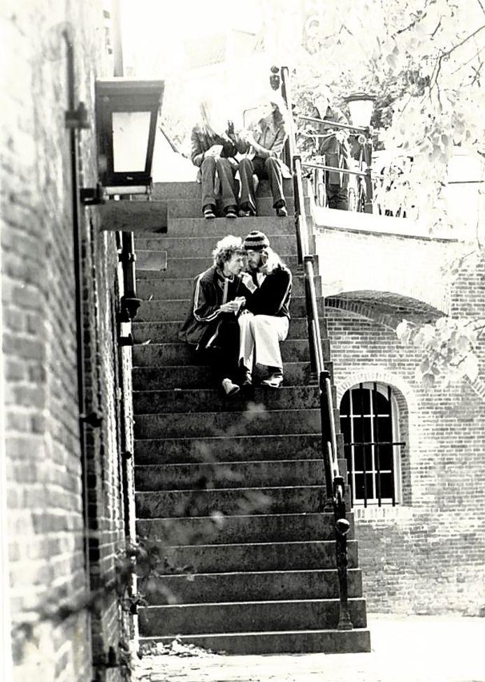 Herman de Korte met zijn toenmalige vriend, veertig jaar geleden.