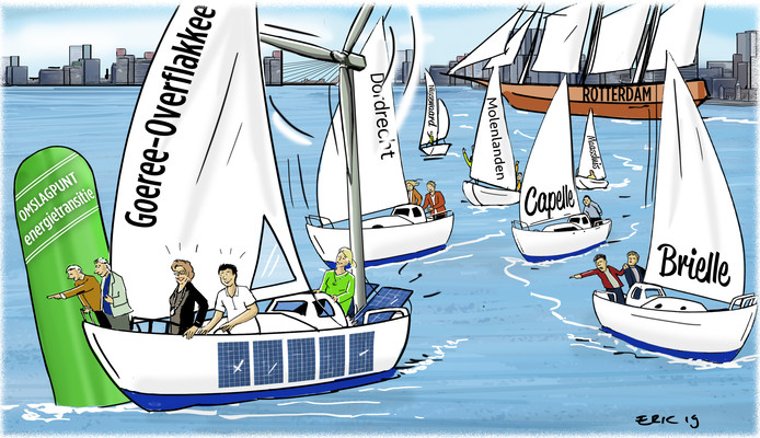 Goeree-Overflakkee geldt als het pareltje, Rotterdam als de krachtpatser van klimaatbeleid. Maar veel gemeenten in de regio hebben geen benul wat ze ermee aanmoeten.