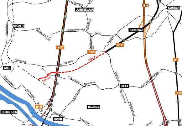 Fase 3 moet de Eikenstraat en de parallelweg van de Boomsesteenweg in Rumst verbinden.