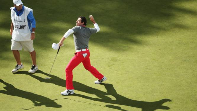 Rory McIlroy snoept Thomas Bjorn eindzege af, Colsaerts 71ste