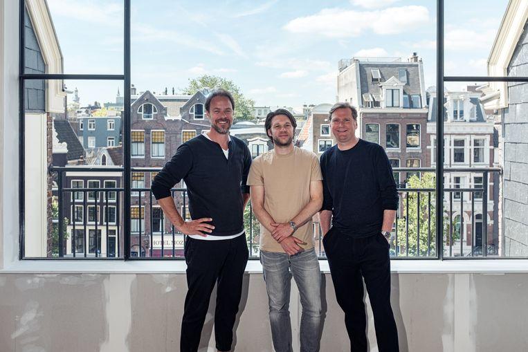 Initiatiefnemers Maarten Beucker Andreae, Lennart Rottier, Foppe Eshuis. Beeld Jakob Van Vliet