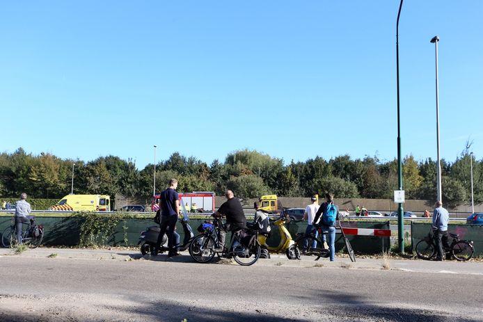 Ongeluk op A50 bij Eindhoven