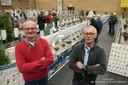 Henk Grievink (links) en Gradus Averesch, betrokken bij het houden en fokken van kleindieren. Foto Christian van der Meij
