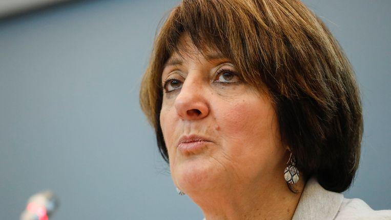 Voorzitster Olga Zrihen (PS) van de onderzoekscommissie Publifin van het Waals parlement.