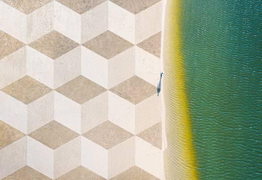 Het kunstwerk 'Zand & Water'.