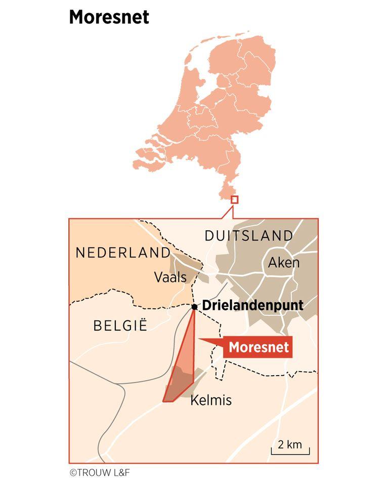 Moresnet zoals het ooit aan Nederland grensde. Beeld Louman & Friso