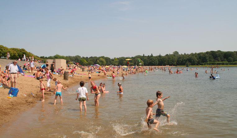Het waterpeil van de vijver van De Ster in de zomer van 2015...
