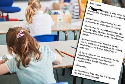Lerarentekort escaleert: school vraagt ouders om zieke juf te vervangen