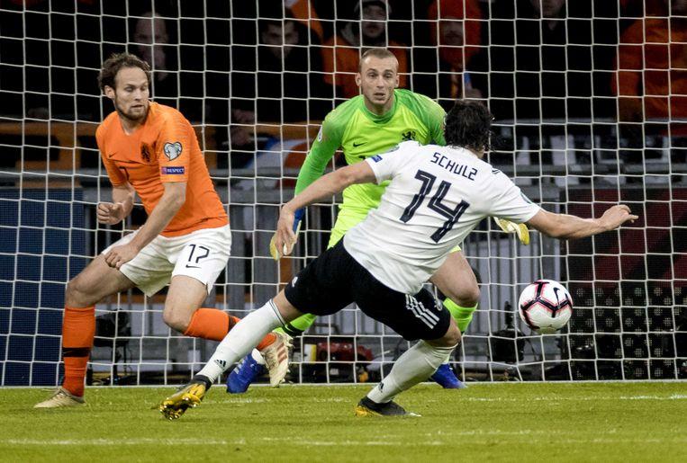 Het idee dat Duitsers vaak in de laatste minuten winnen, won weer aan kracht toen Nico Schulz dit jaar in de slotminuut het winnende doelpunt maakte tijdens de EK-kwalificatiewedstrijd tegen Nederland. Beeld ANP