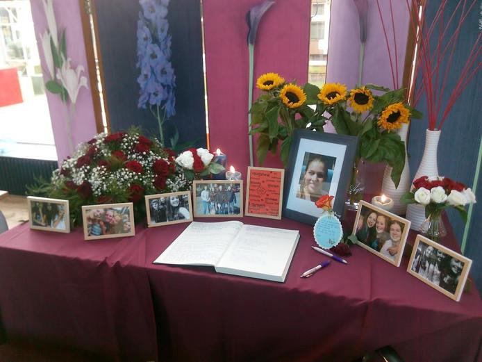 Het gedenkhoekje in het Theresialyceum