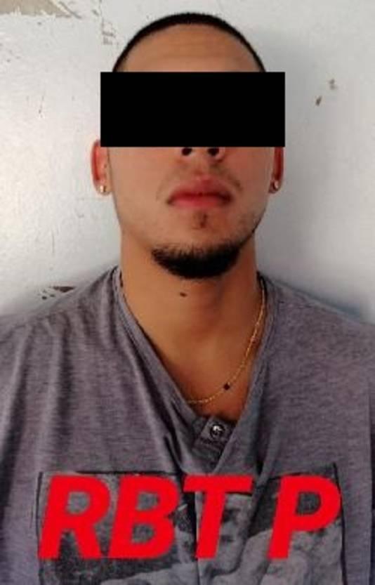 Marc-Anthony G., hier op een politiefoto gemaakt na zijn arrestatie in Suriname.