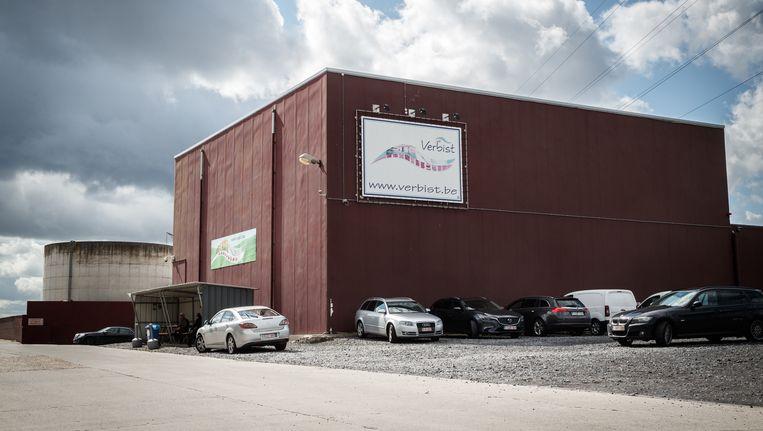 Het gesloten slachthuis Verbist in Izegem.