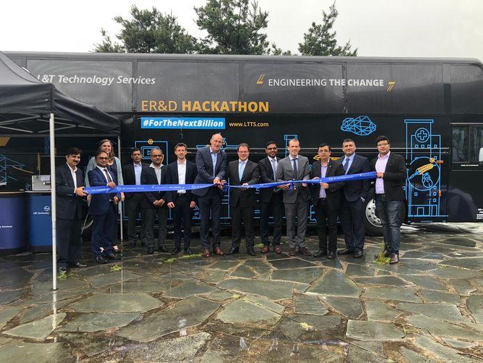 L&T Technology Services maakt deze week tijdens een bustour door Europa een stop op de High Tech Campus in Eindhoven.